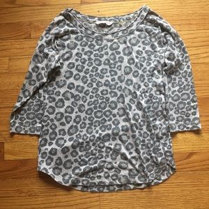 Rebecca Taylor Leopard Long Sleeve Small